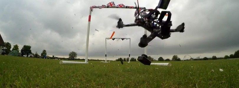 Carrera de drones del equipo Mad Dogs