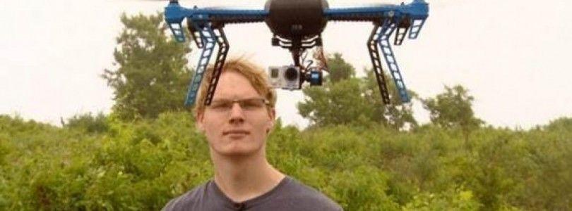 Austin Haughwout aparece en la revista Inside Edition por su dron equipado con una pistola
