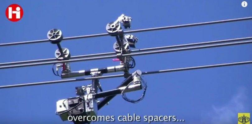 Así funciona un robot capaz de supervisar las lineas de alta tensión en Rusia