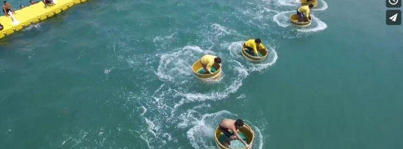 Juegos del agua grabados desde un DJI