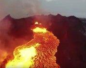 Increíbles planos de un río de lava grabados con el DJI Inspire 1