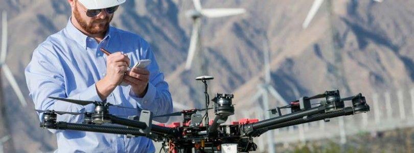 La supervisión de las turbinas de aire con drones, generará mas de 4.000 millones de dólares en 2024